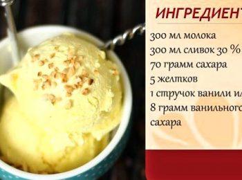 Мороженое в домашних условиях без сливок рецепт  52