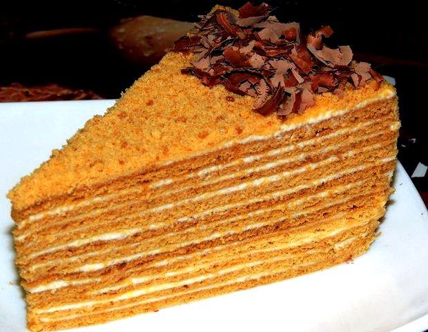 Торт медовик с сгущенкой рецепт с фото пошагово