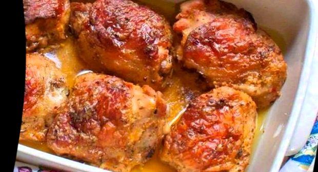 Бедро куриное в духовке с картошкой рецепт с фото