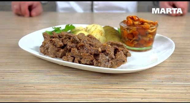 Бефстроганов из говядины рецепт классический со сметаной в мультиварке