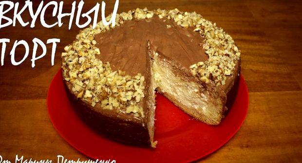 Бисквитный торт в мультиварке пошаговый рецепт с фото