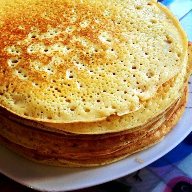 Блинчики на кефире рецепт тонкие с дырочками на молоке