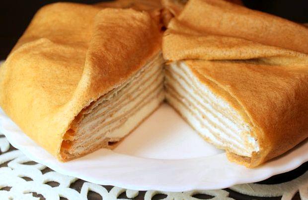 Блинный торт рецепт с фото пошагово в домашних условиях с сгущенкой