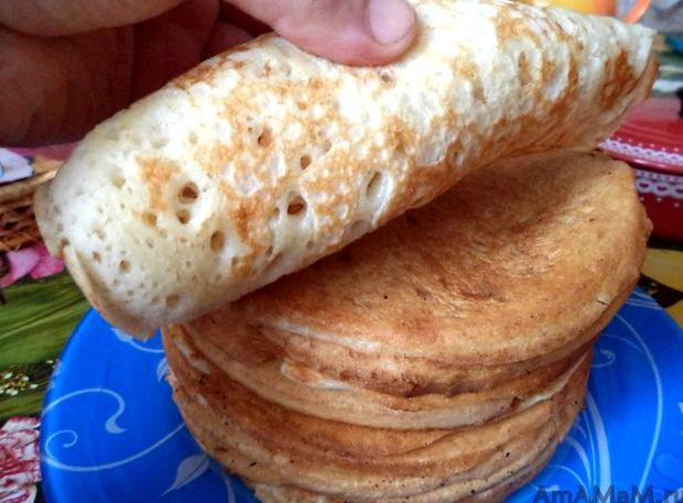 Блины на дрожжах рецепт толстые пышные кислые