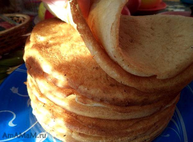 Блины на кефире толстые рецепт с фото пошагово