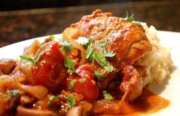 Чахохбили из курицы пошаговый рецепт в мультиварке с фото