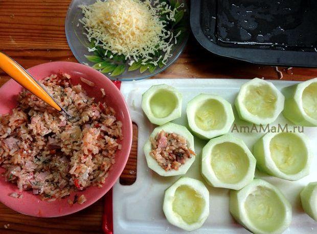 Как приготовить кабачки с фаршем