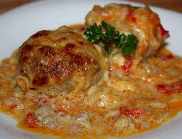 Фрикадельки в сметанном соусе на сковороде рецепт с фото