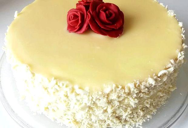 Глазурь для торта из белого шоколада рецепт с фото