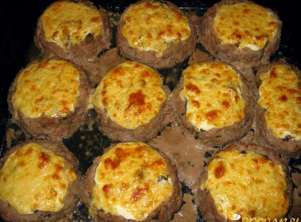 Гнёзда из фарша в духовке рецепт пошагово с фото с грибами