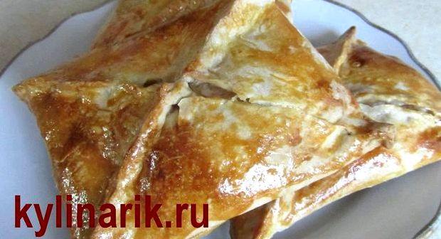 Хачапури из слоеного теста с сыром в духовке рецепт с фото пошагово