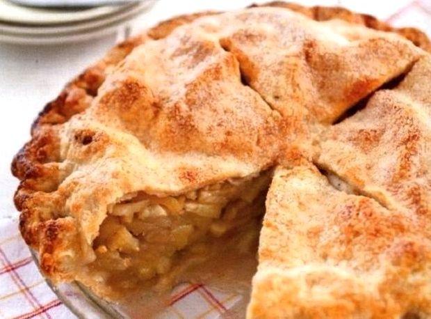Яблочный пирог из слоёного теста рецепт с фото