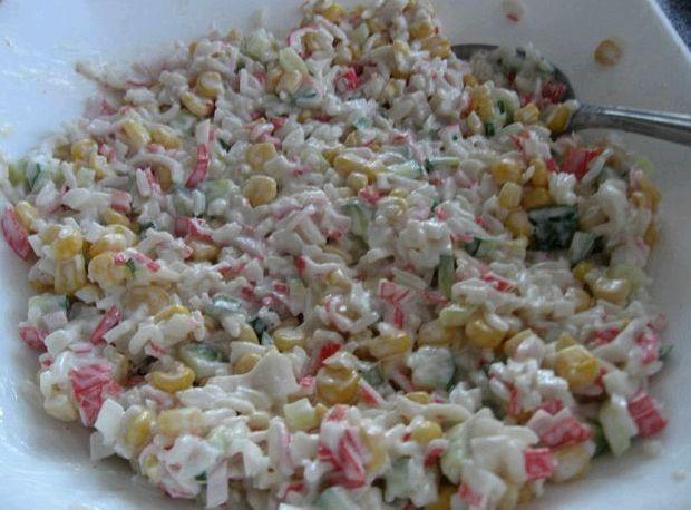 Как сделать крабовый салат рецепт фото 650