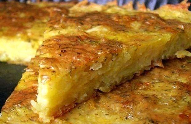 Картофельная запеканка с сыром в духовке рецепт с фото
