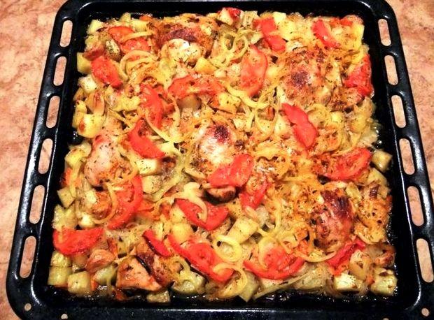 Картошка с грудкой в духовке рецепт с фото