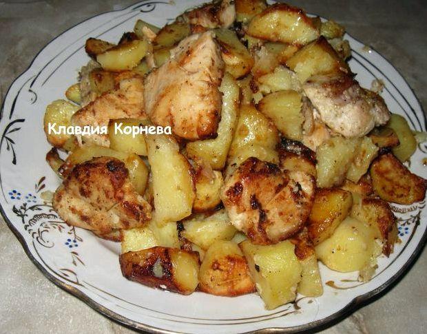Картошка с мясом в духовке с майонезом и сыром в духовке рецепт