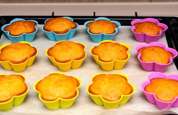 Кексы в силиконовых формочках рецепт с фото