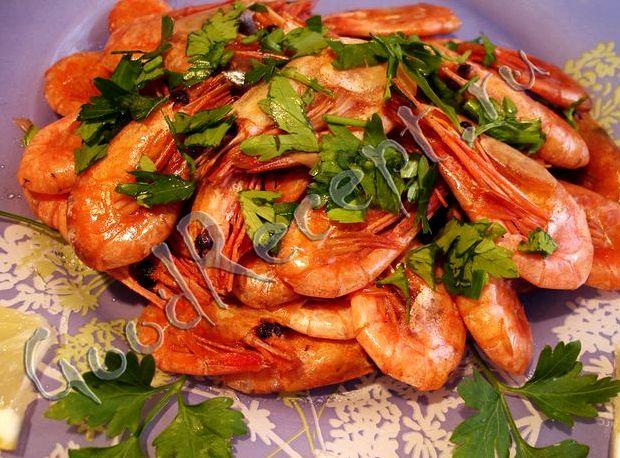 Креветки жареные с чесноком и соевым соусом рецепт с фото