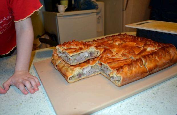Кубите пирог с мясом и картофелем рецепт с фото