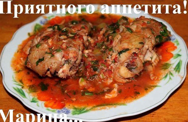 Курица чахохбили с томатной пастой рецепт с фото