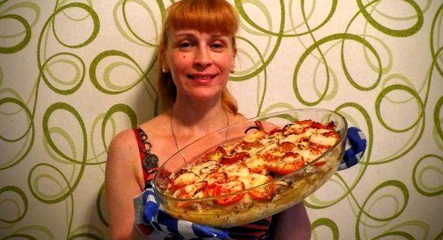 Курица по французски с картошкой в духовке рецепт с фото с помидорами