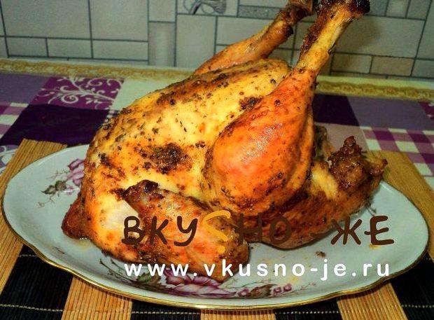 Курица в банке в духовке целиком рецепт с фото