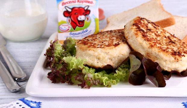 Куриные котлеты с плавленным сыром рецепт с фото