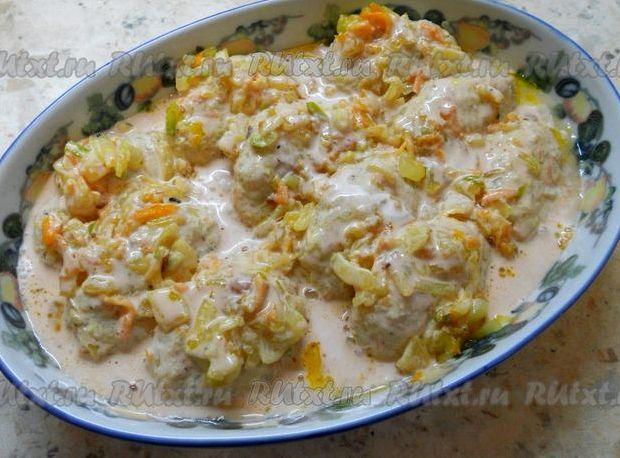 Ленивые голубцы в томатно сметанном соусе в духовке рецепт с фото