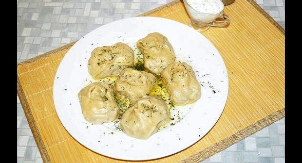 Манты с тыквой и мясом пошаговый рецепт с фото