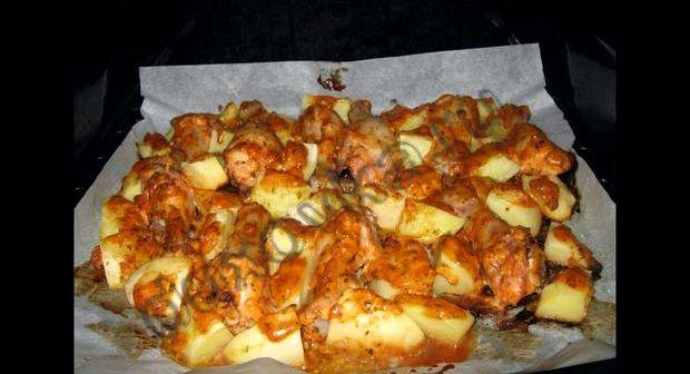 Мясо с картошкой в протвине в духовке рецепт с фото