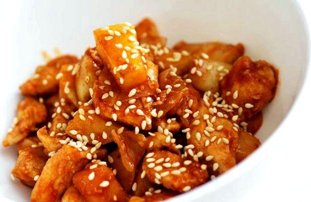 Мясо в кисло сладком соусе по китайски рецепт