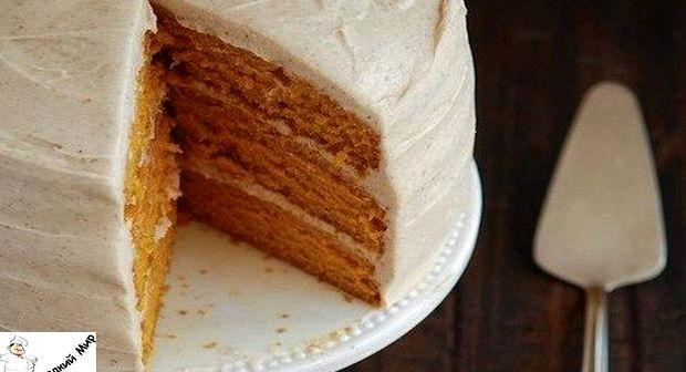 Морковный торт с сметанным кремом рецепт с фото