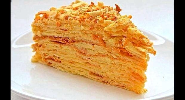 Наполеон торт на сковороде рецепт с заварным кремом самый вкусный