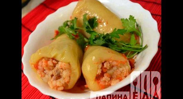 Перец фаршированный мясом и рисом рецепт с фото пошагово