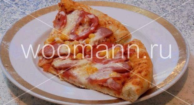 Пицца рецепт в домашних условиях с помидорами колбасой и сыром