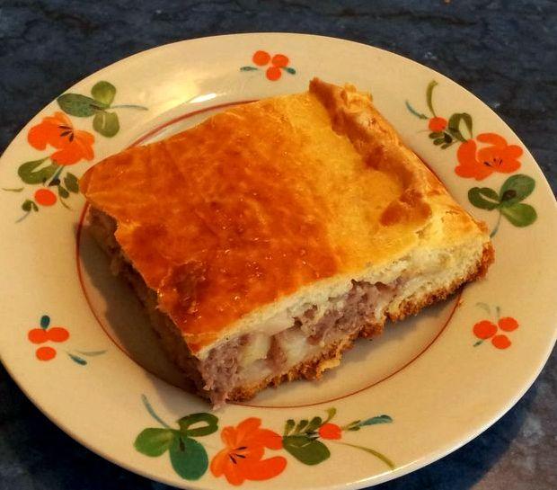 Пирог с фаршем и капустой в духовке рецепт с фото