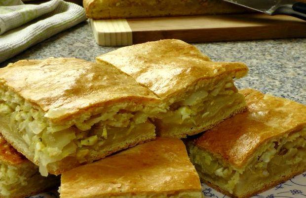 Пирог с капустой быстрый рецепт с фото пошагово в духовке