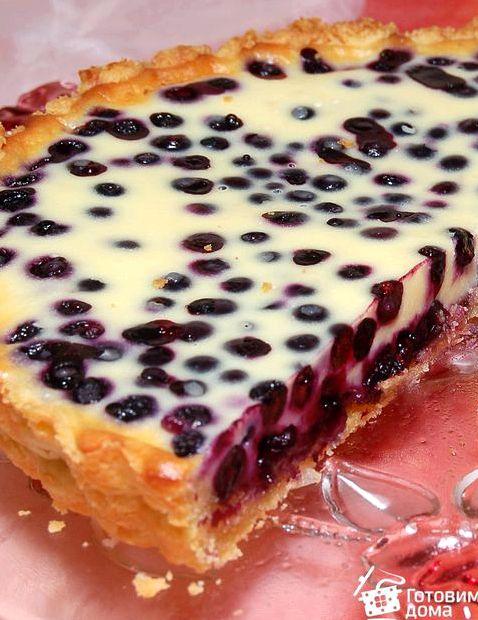 Пирог с вишней с творогом из песочного теста рецепт с фото пошагово