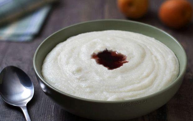 Пошаговый рецепт манной каши на молоке с фото