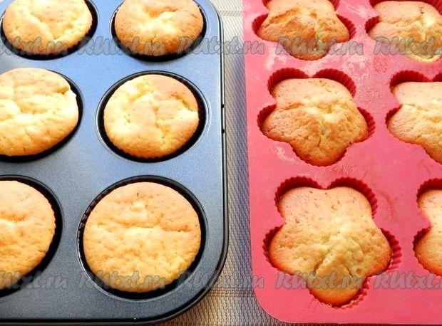 Рецепт кексов в силиконовых формочках с творогом