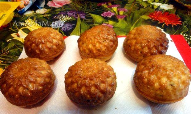 Рецепт кексов в силиконовых формочках в духовке с изюмом