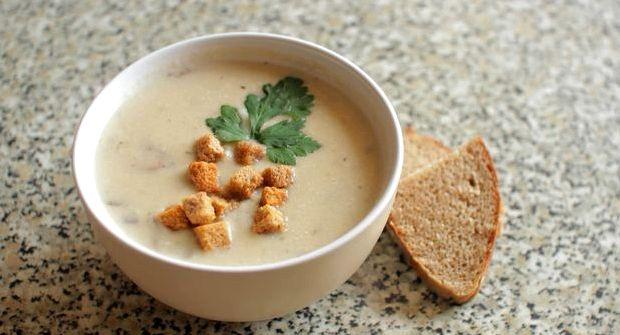 Рецепт крем супа из шампиньонов со сливками
