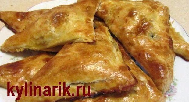 Рецепт курника из слоеного теста с фото пошагово
