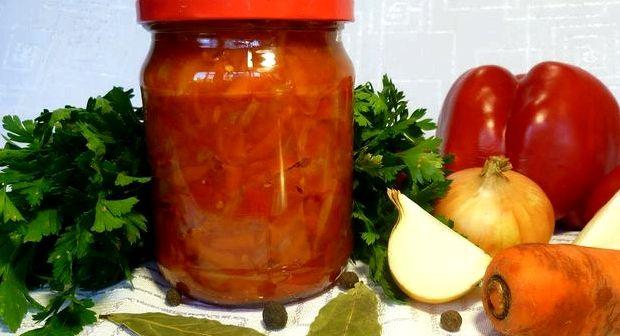 Рецепт лечо на зиму из перца и помидор и моркови и лука