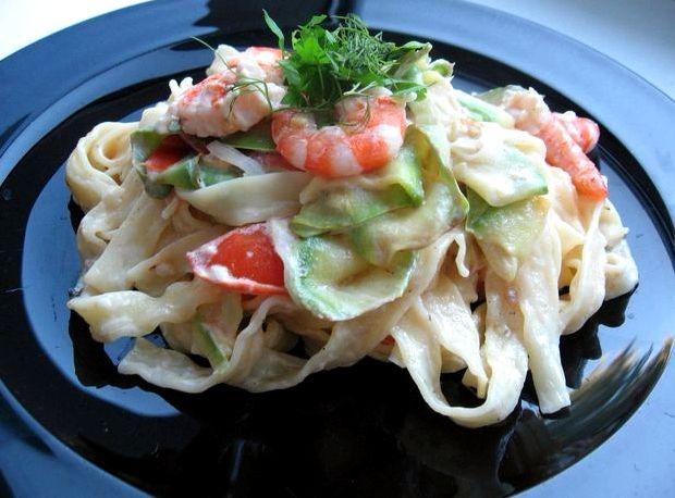 Рецепт пасты с креветками в сливочном соусе с фото