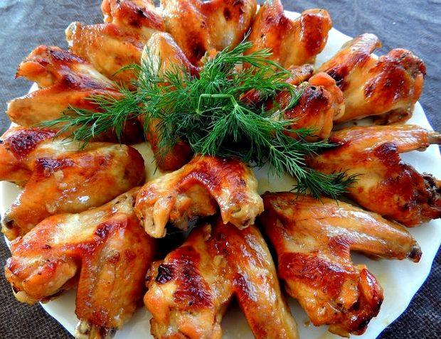 Рецепт приготовления куриных крылышек в духовке