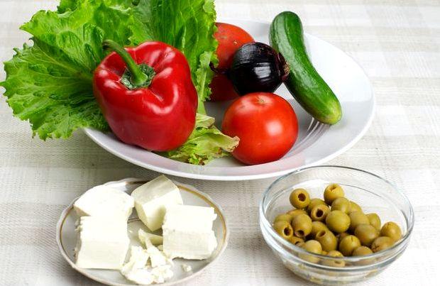 Рецепт салат греческий в домашних условиях