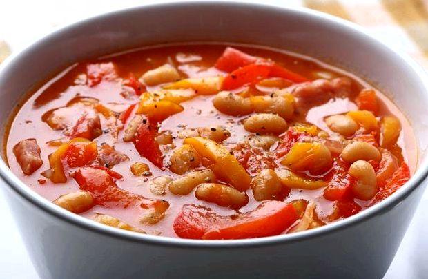 Рецепт супа с консервированной фасолью в томатном соусе