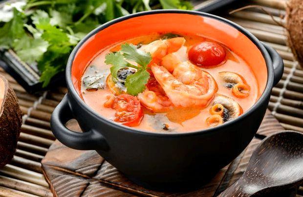 Рецепт том ям суп с креветками и кокосовым молоком