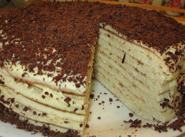 Рецепт торт на сковороде с заварным кремом